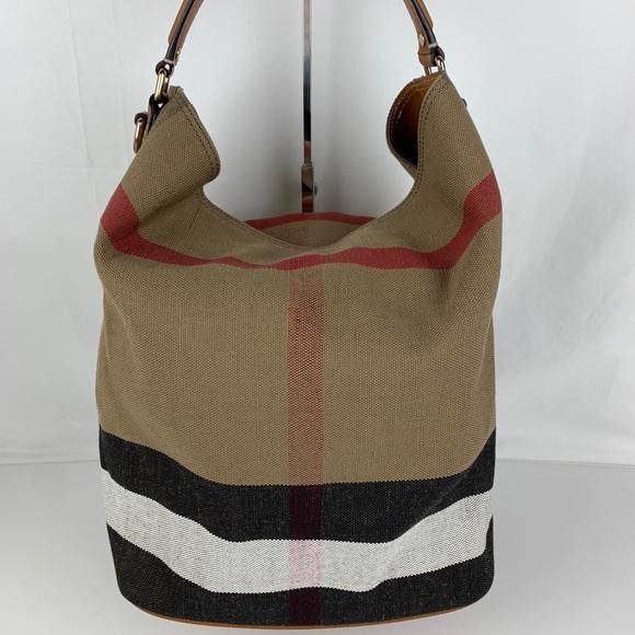 New Burberry Medium Ashby Check Print Tote Bag 5ce0163e34398